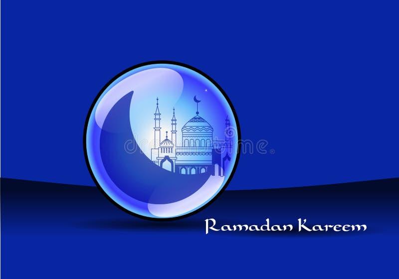 Kareem del Ramadán de la mezquita stock de ilustración