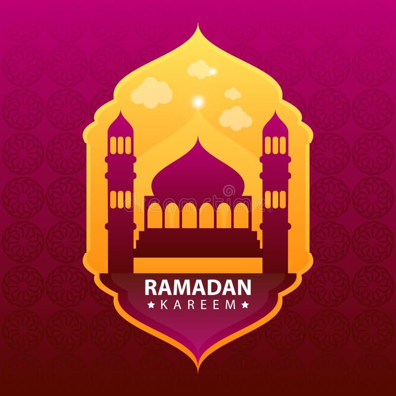 Kareem del Ramadán en fondo abstracto del color libre illustration