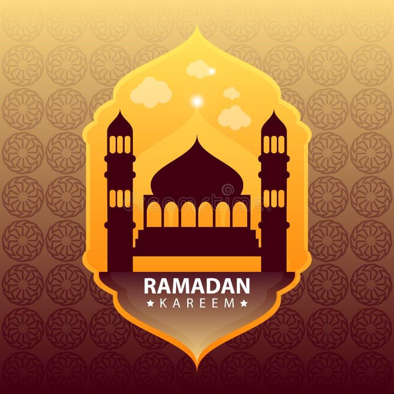 Kareem del Ramadán en fondo abstracto del oro libre illustration