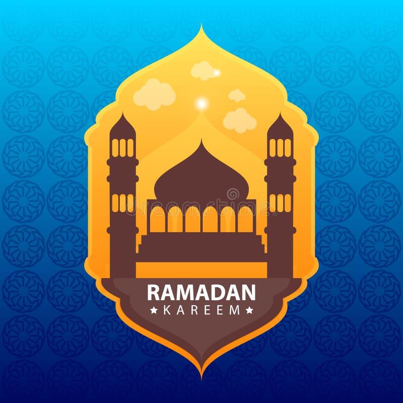 Kareem del Ramadan sul fondo astratto di colore illustrazione vettoriale