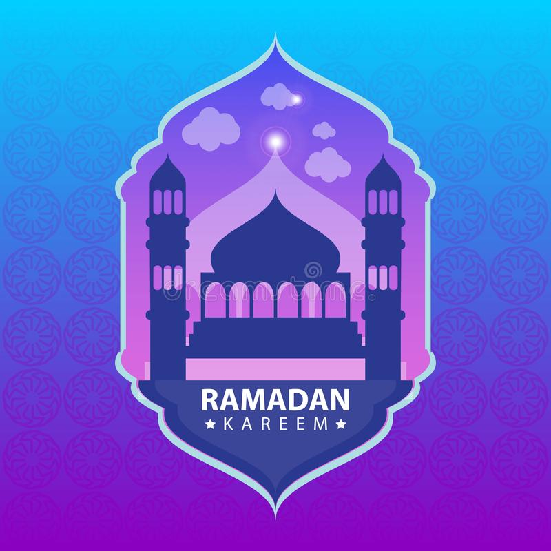 Kareem del Ramadan sul fondo astratto di colore royalty illustrazione gratis