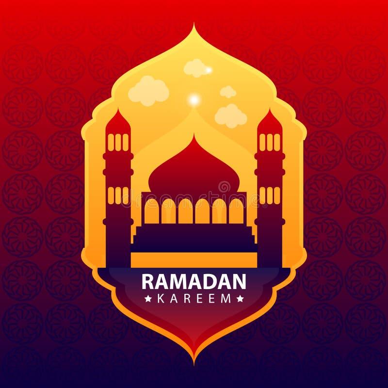 Kareem del Ramadan sul fondo astratto di colore illustrazione di stock