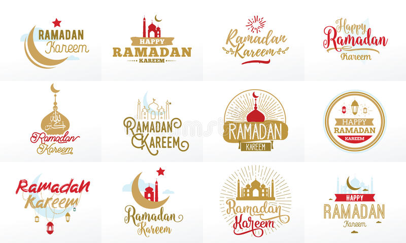 kareem ramadan Διανυσματικό τυπογραφικό σύνολο σχεδίου ελεύθερη απεικόνιση δικαιώματος