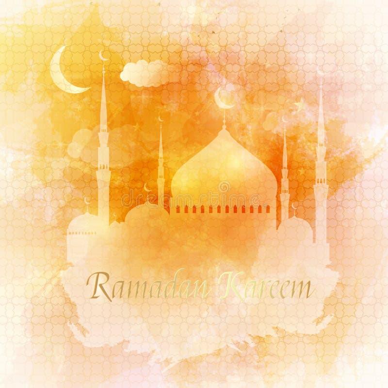 kareem Ramadan orny Kartka z pozdrowieniami islamski wektorowy projekt ilustracji