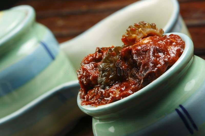 Karela腌汁-印地安腌汁 免版税库存图片