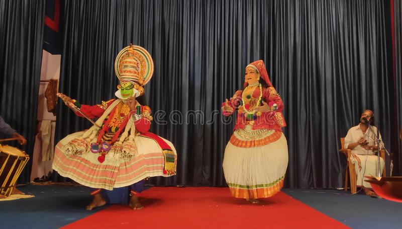 Karelaskathakalidansen fotografering för bildbyråer