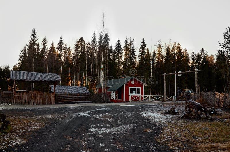 Karelia Antenat Karelian dziad Mrozowy Talvi Ukko Listopad 14, 2017 zdjęcia stock