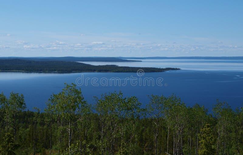 karelia lake royaltyfri fotografi