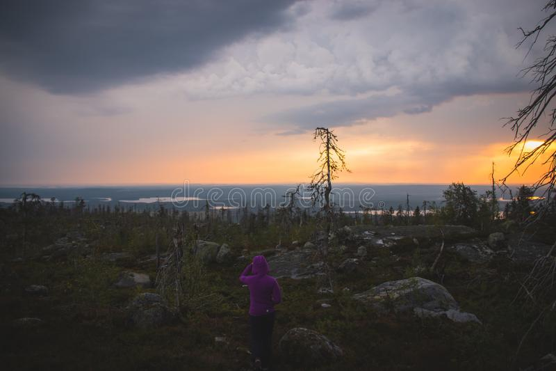 Karelia montering Vottovaara royaltyfri foto