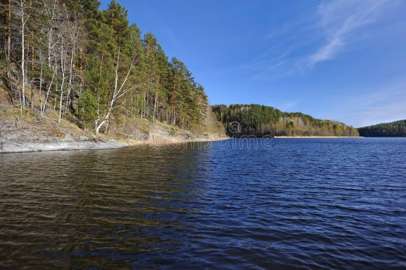 The Shores Of Lake Ladoga. Karelia. Russia. Stock Photo ...