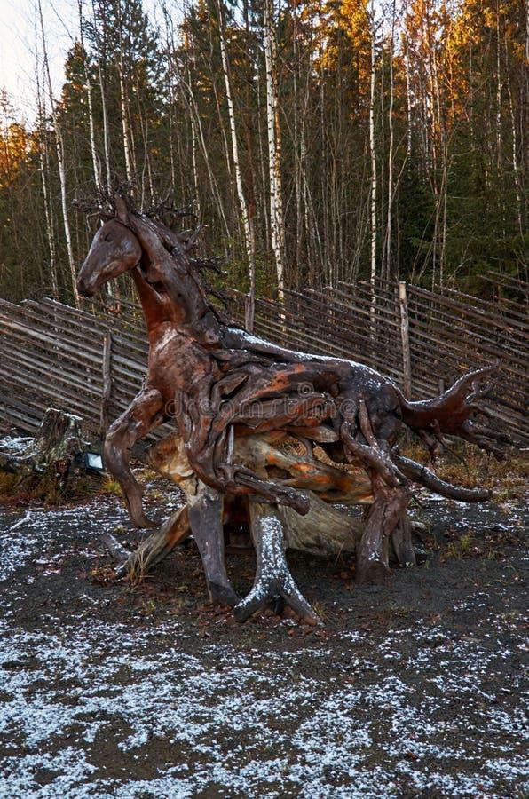 Karelien Der Vorfahr des karelischen Großvaters Frost Talvi Ukko 14. November 2017 stockfotos