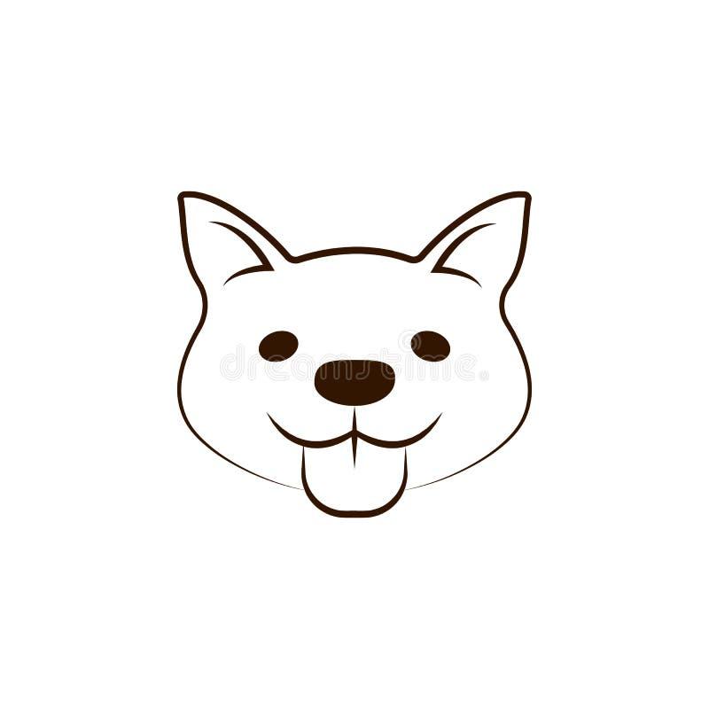 Karelisch draag hondpictogram Één van de hond kweekt hand trekt pictogram vector illustratie
