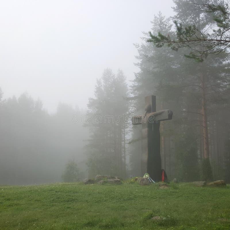 Karelische monumenten royalty-vrije stock afbeeldingen