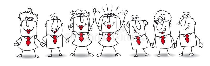 Karen e o desenvolvimento de equipas ilustração royalty free