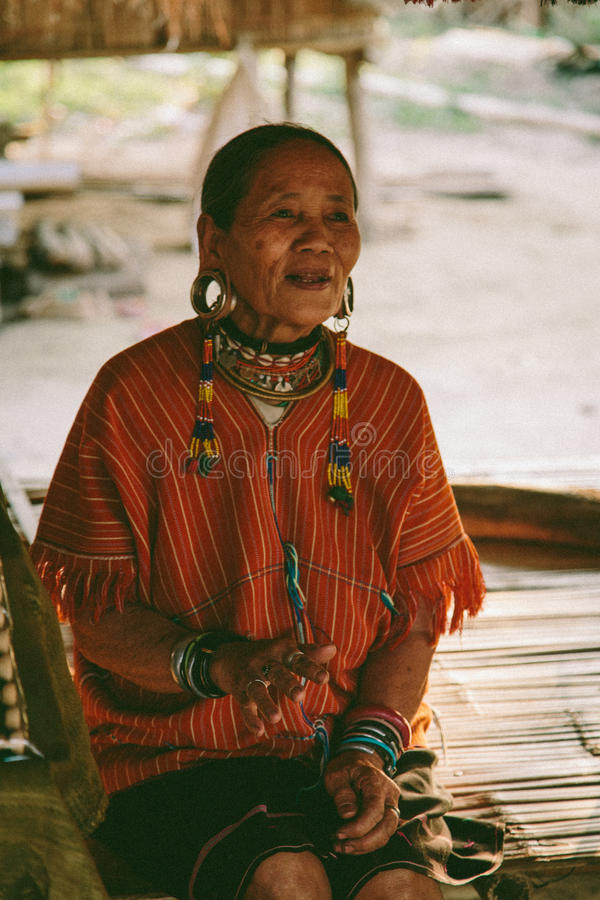 Karen Hill Tribe Woman stock foto's