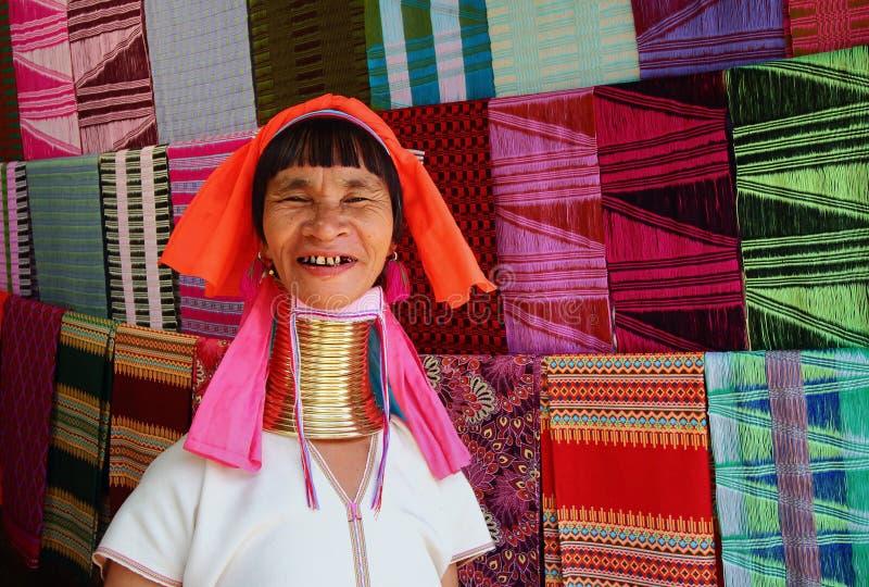 Karen Long Neck royaltyfria bilder