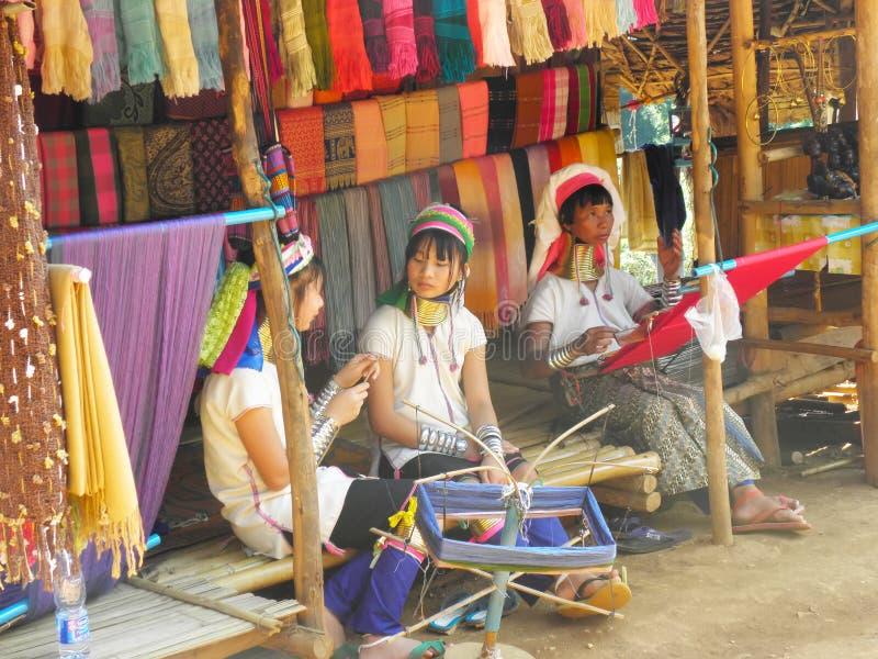 Karen Long Neck Village In Chiang Rai, Thailand royaltyfri fotografi