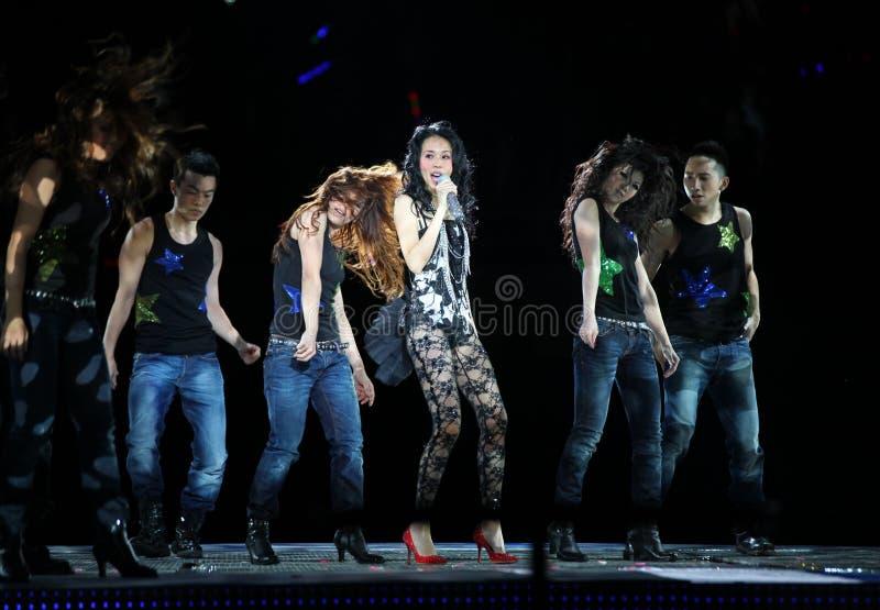 Karen Mok 莫文蔚 Beijing Concert 2009 royalty free stock image