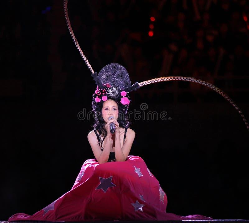 Karen Mok Beijing Concert 2009 royalty free stock image