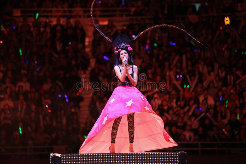 Karen Mok Beijing Concert 2009 royalty free stock photography