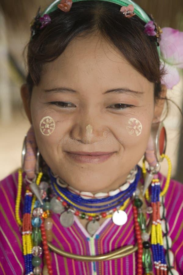 Karen-mulheres em Tailândia fotografia de stock