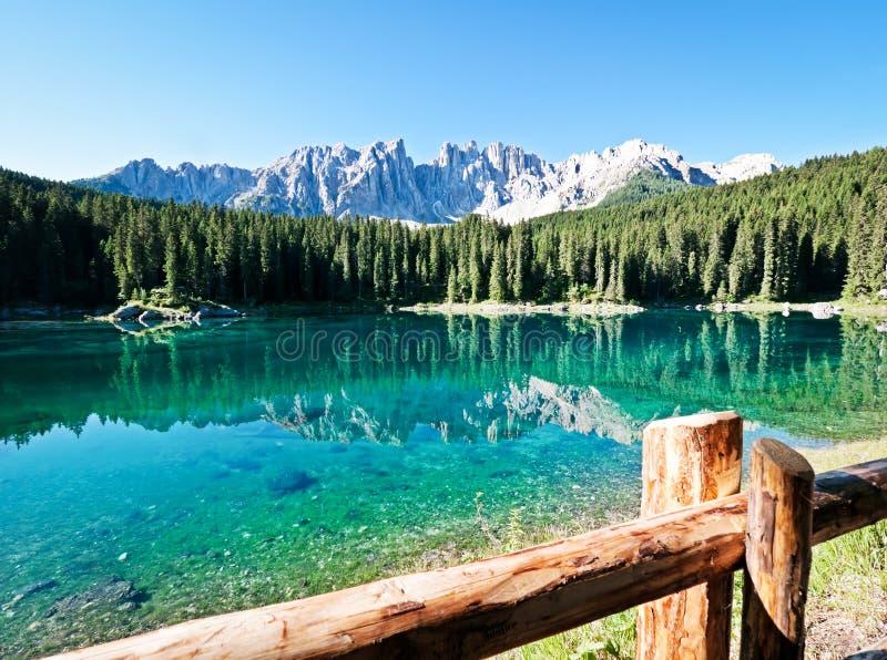 Karerlake in Italië stock afbeeldingen