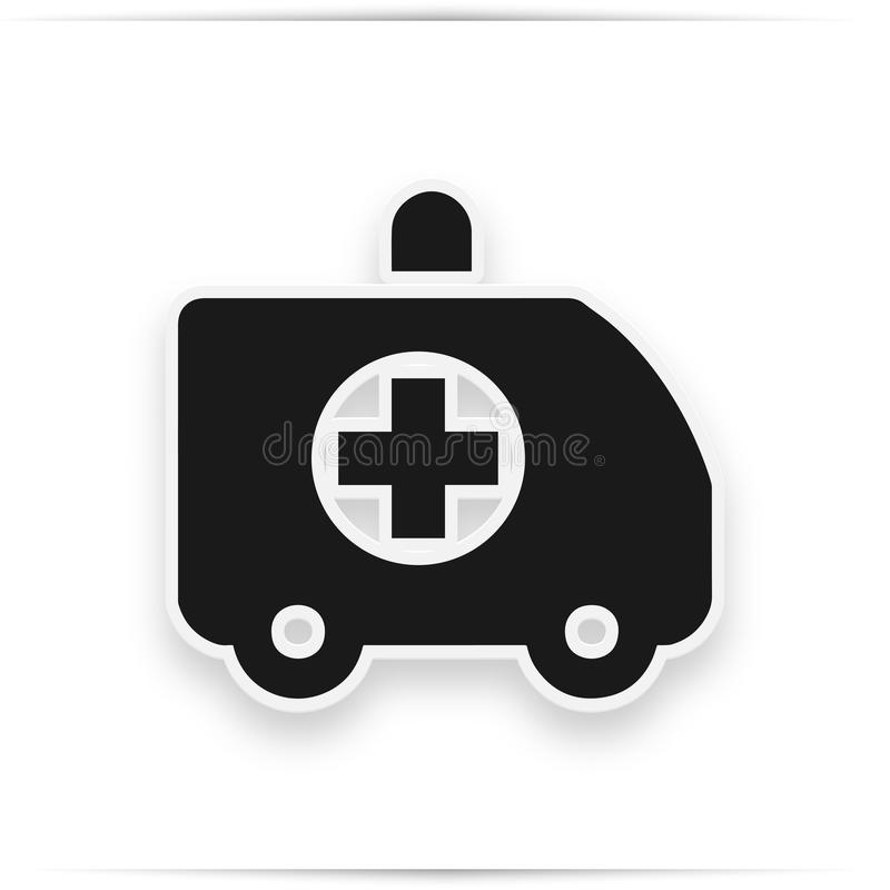 Karetki ciężarowa ikona, wypełniający mieszkanie znak, stały piktogram odizolowywający na bielu Symbol, logo ilustracja ilustracji