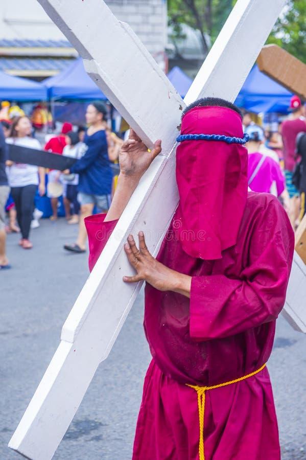 2019 Karfreitag in den Philippinen stockfotos