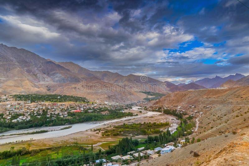 Kargil Jammu and Kashmir, Ladakh arkivbild