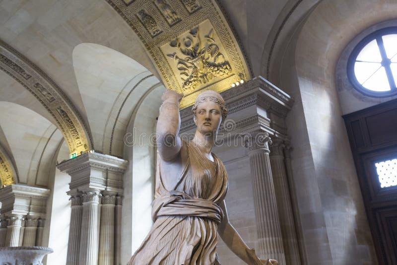 Kariatyda pokój louvre, Paryż, Francja obraz royalty free