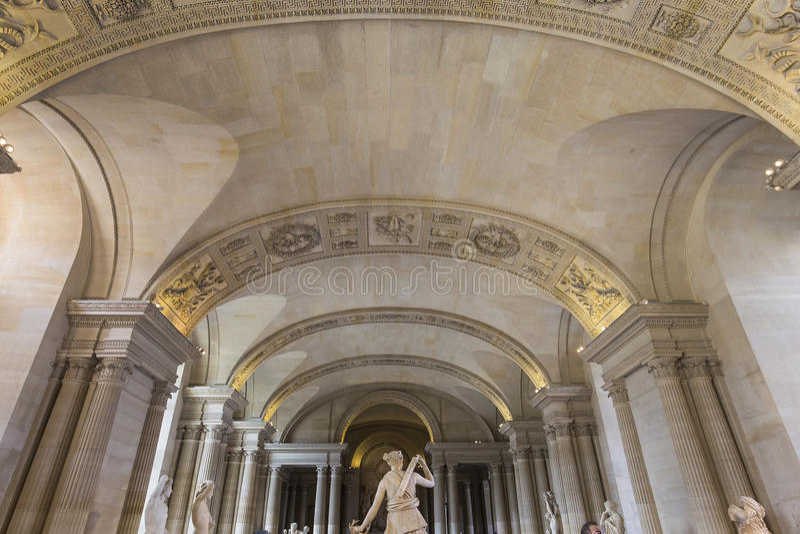 Kariatyda pokój louvre, Paryż, Francja fotografia stock