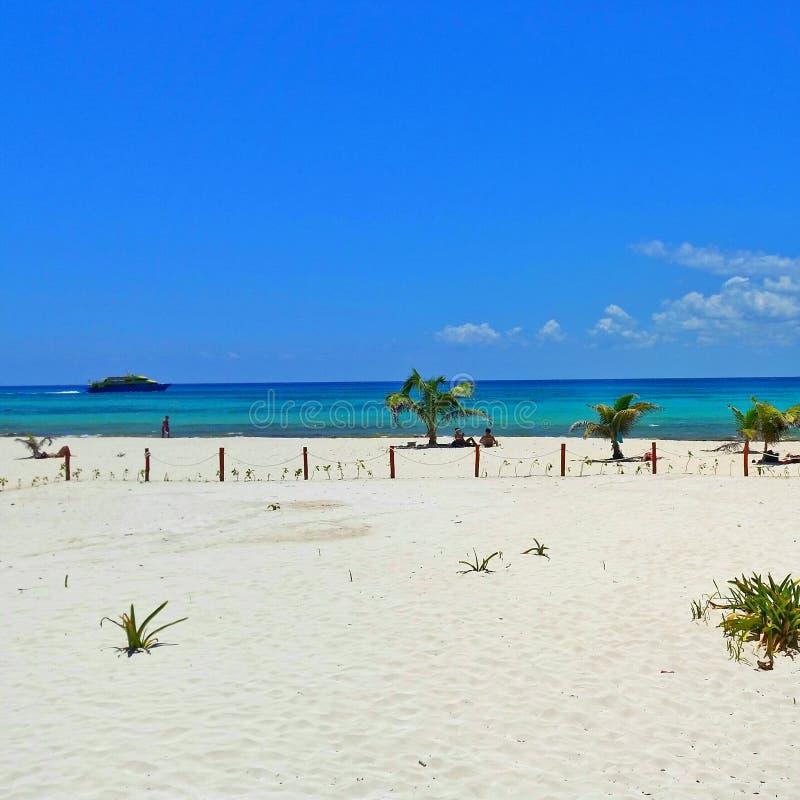 Karibische Meere in Cozumel stockbilder