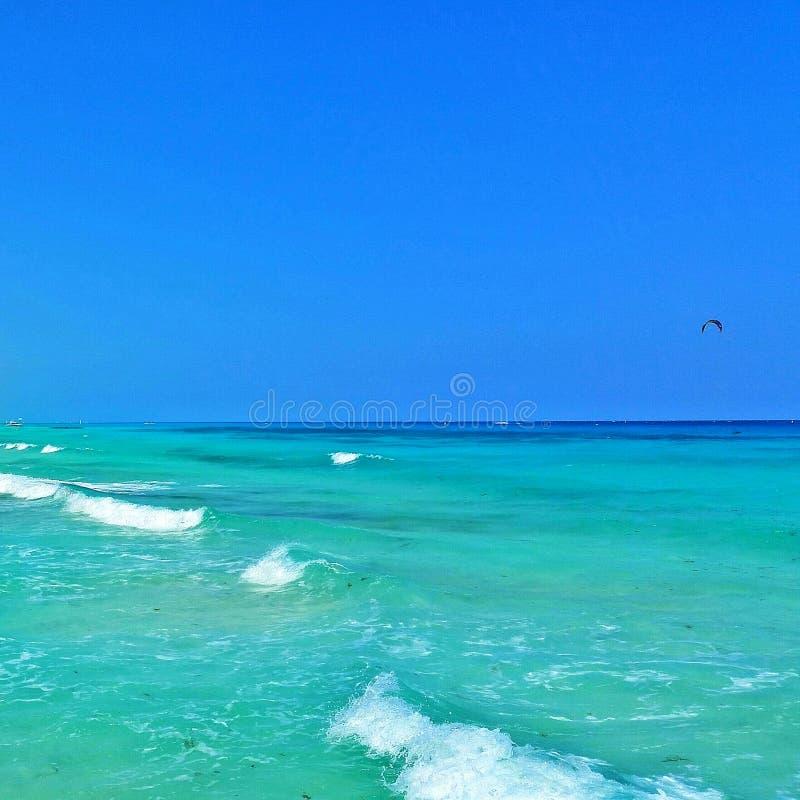 Karibische Meere in Playa del Carmen lizenzfreie stockfotografie