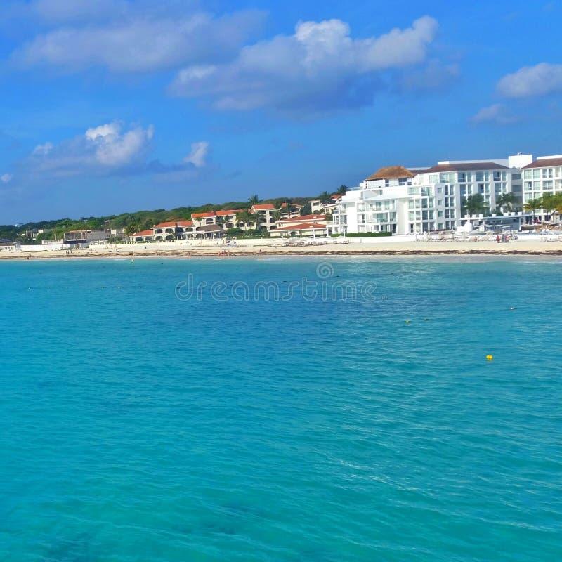 Karibische Meere in Playa del Carmen stockfotografie