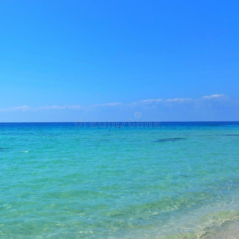 Karibische Meere in Playa del Carmen stockbild