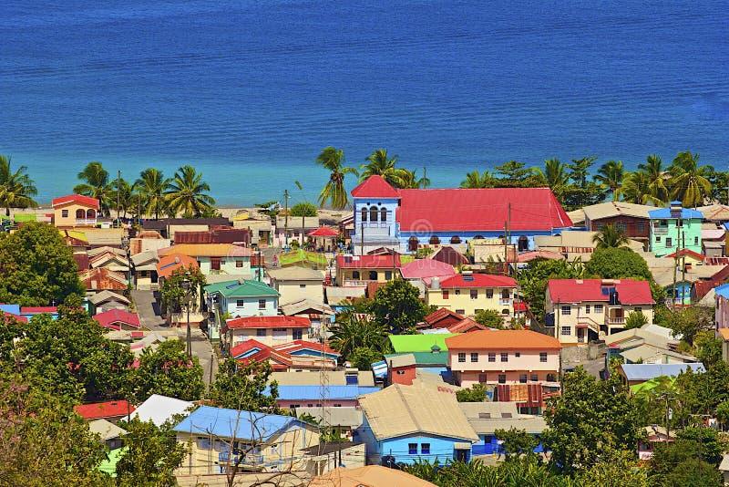 Karibische Stadt - St Lucia lizenzfreie stockfotografie