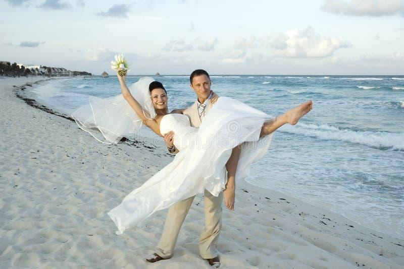 Karibische Strand-Hochzeit - Cele stockbild