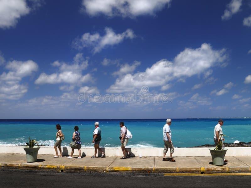 Karibische Touristen lizenzfreies stockfoto