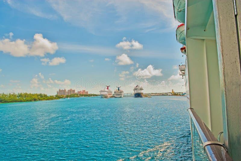 Karibische tropische Kreuzfahrt-Reise-Ferien stockbilder