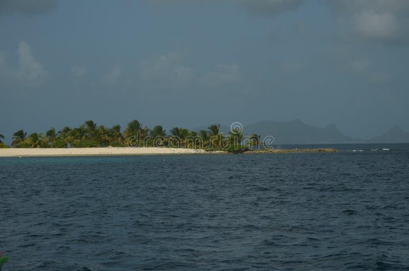 Karibischer Strandstreifen Tobago-Cays lizenzfreies stockfoto