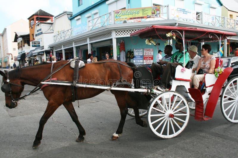Karibischer Wagen stockbild