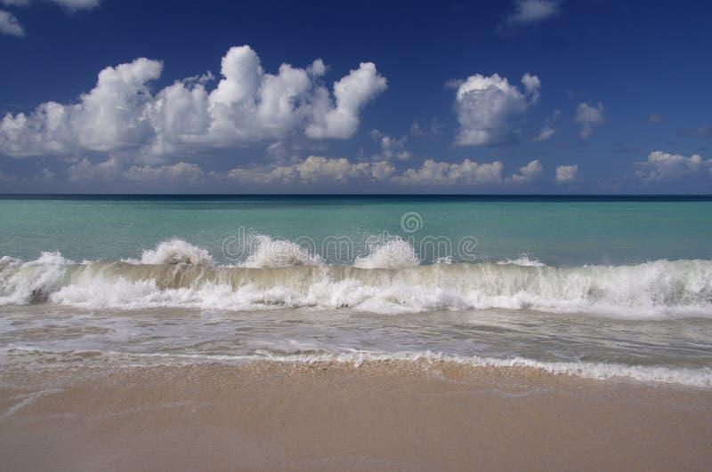 Karibisches Blau stockbild