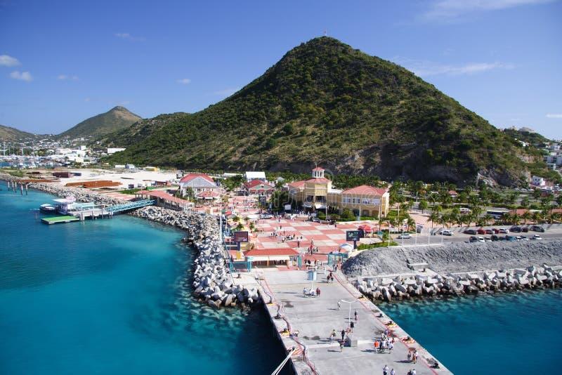 Karibisches Blau lizenzfreie stockfotografie
