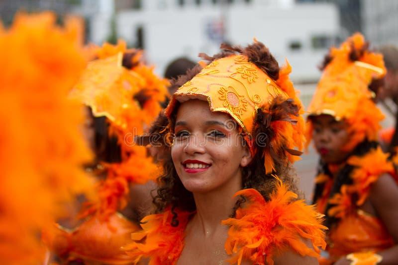 Karibisches Carnaval Festival in Rotterdam lizenzfreie stockfotos