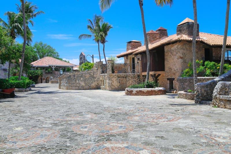 Karibisches Dorf stockbild