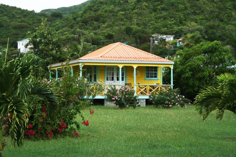 Karibisches Haus lizenzfreies stockfoto