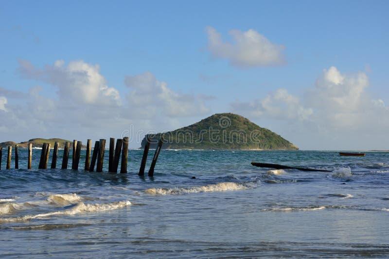 Karibisk ö från Saint Lucia arkivfoto