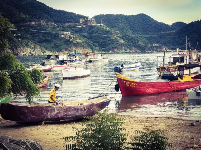 karibisk fiskare royaltyfria foton