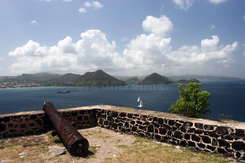 Karibisk Fortmilitär Royaltyfria Bilder