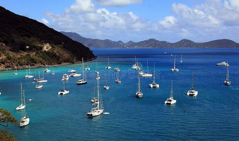 Karibisk hamn, British Virgin Islands royaltyfria foton